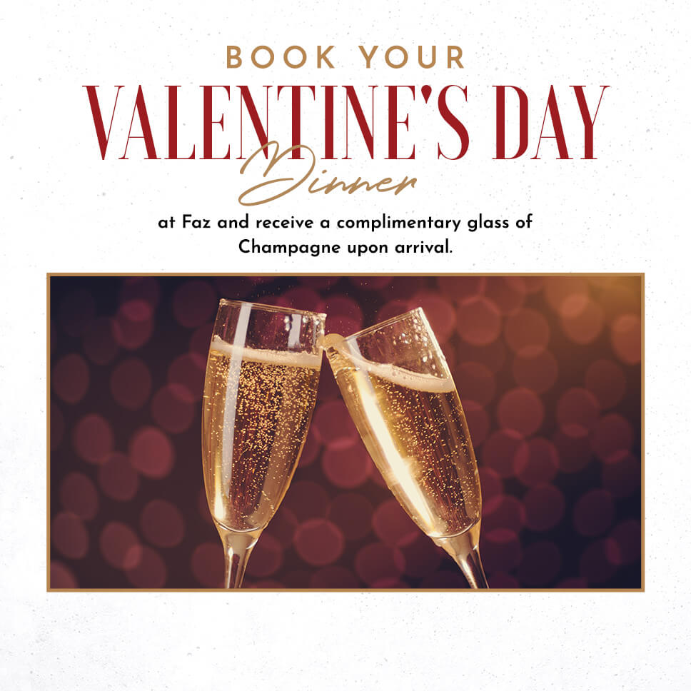 Book your Valentines Day Dinner